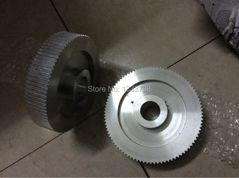 Strong aluminum alloy 92 teeth 5mm pitch HTD5M pulley,fit for 25mm belt customized manufacture htd5m alloy belt pulley