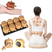 New 8pcs/lot Health Care Physiotherapy Moxibustion Pot Chinese Traditional Physiotherapy Cupping