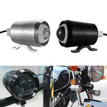 12V-80V U2 30W LED Spotlight Motorcycle DRL Driving Fog Lamp Black/Silver Spot HeadLight Scooters Super Bright Lamp(China)
