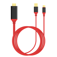 Tipo C Cable3 DOITOP USB en 1 HDMI AV Digital adaptador 1080 P Smart Cable Del Convertidor 2 M Apoyo 4 K Para MacBook Pro