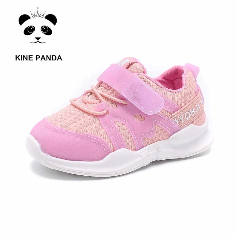 KINE PANDA/детская обувь; обувь для малышей 1, 2, 3 лет; повседневные Сникеры с сеткой для маленьких мальчиков и девочек; спортивная обувь; мягкая обувь для малышей