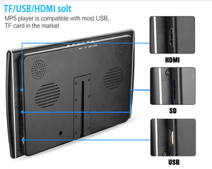 Image 5 - XST 2PCS 11.6 นิ้ว Ultra thin Car Headrest Monitor HD 1080P หน้าจอ LCD MP5 เครื่องเล่น USB/SD/HDMI/FM/ลำโพง