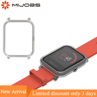 Mijobs Slim Colorful Protective Case Cover for Xiaomi Huami Amazfit Bip BIT PACE Lite Youth Watch Hard Plastic PC Shell Bumper