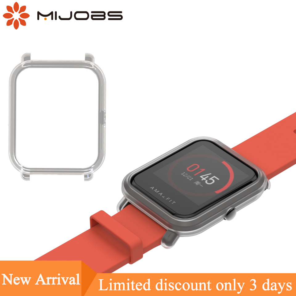 Mijobs Slim Colorful Protective Case Cover for Xiaomi Huami Amazfit Bip BIT PACE Lite Youth Watch Hard Plastic PC Shell Bumper цена 2017