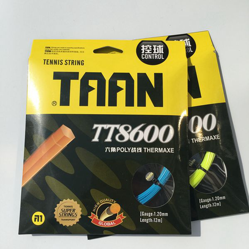 1pc TAAN Tennis String Hexagonal Tennis Racquet String Polyester String Rackets String 1.2mm
