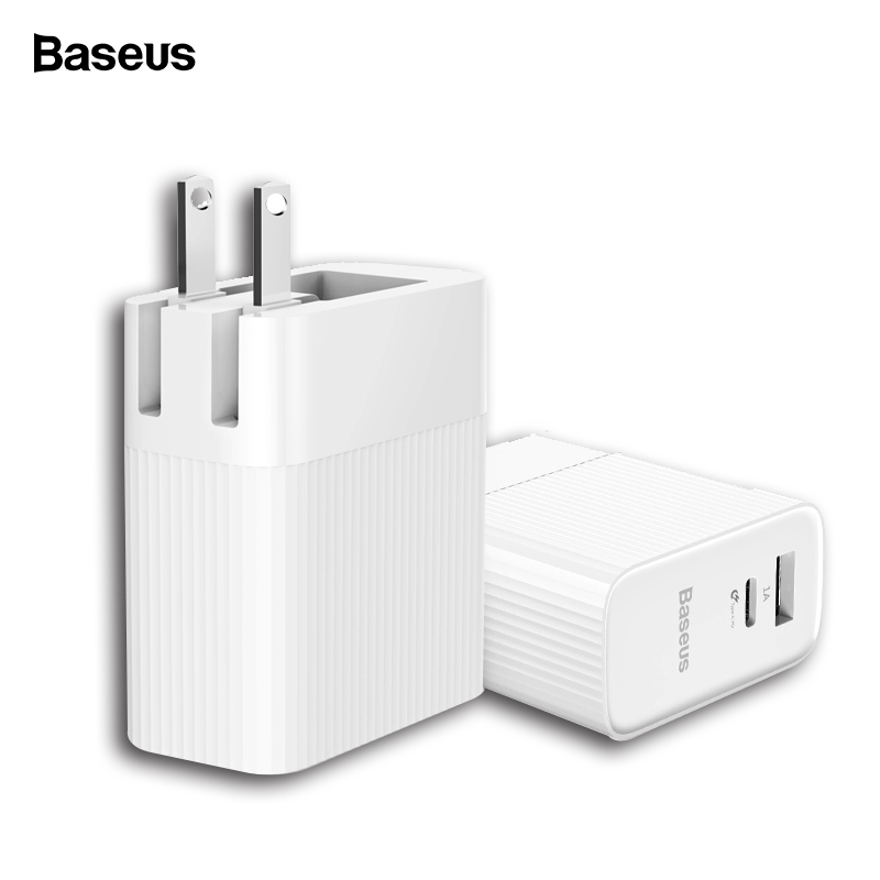 Baseus 29W Type C PD 3.0 USB Charger For iPhone Xs Max Xr Xs X 8 USB C PD Fast Charging Mo
