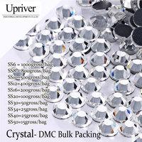 Upriver Wholesale Large Pack Bulk Packing ss6 ss50 High Quality Shiny Stones Crystal Hotfix Rhinestones