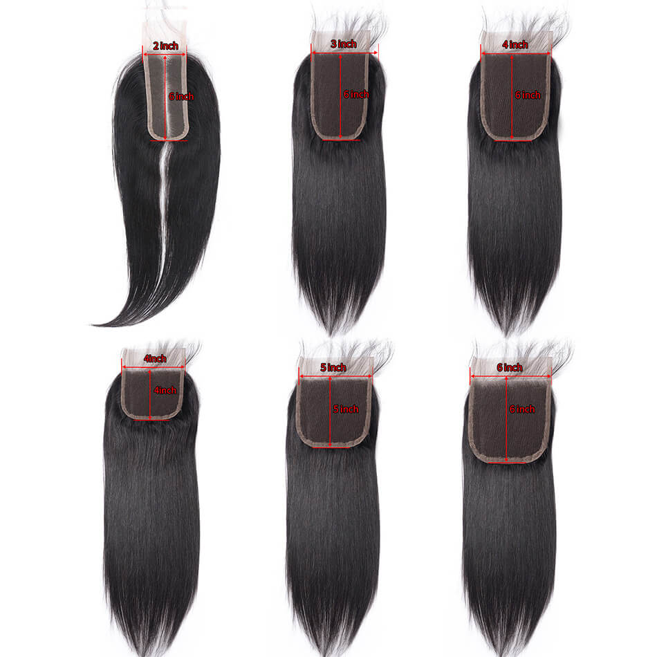 Real Beauty 5X5 Straight Closure Pre Plucked With Baby Hair Brazilian Remy Hair 4x4 6x6 2x6 3x6 4x6 Swiss Lace Closure In Stock