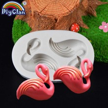 Flamingos style silicone chocolate mold for animal cake decorating bird mould fondant tools resin form kitchen baking