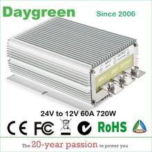 24V NAAR 12V 60A Nieuwste Hot DC DC Step Down Converter Reducer B60 24 12 Daygreen CE RoHS AU DE ONS 24V naar 12V 60AMPdown converter24v to 12vdc step down converter