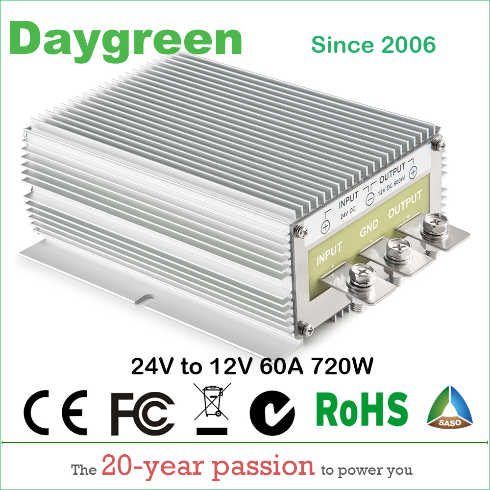 24V TO 12V 60A (24V to 12V 60AMP) Newest Hot DC DC Step Down Converter Reducer B60-24-12 Daygreen CE RoHS AU DE US ce rohs approved 150w dc to dc converter sd 150c 24 48v to 24v led power supply