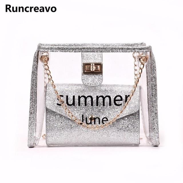2018 crossbody bags for women leather handbags luxury handbags women bags  designer letter chain pvc shoulder bag sac a main 47842ffbabcff