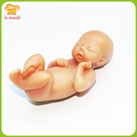 LXYY Moulds Handmade Silicone Mold Cake Decoration Mould 3D BABY MOLD YIN Newborn Baby Chocolate Fondant