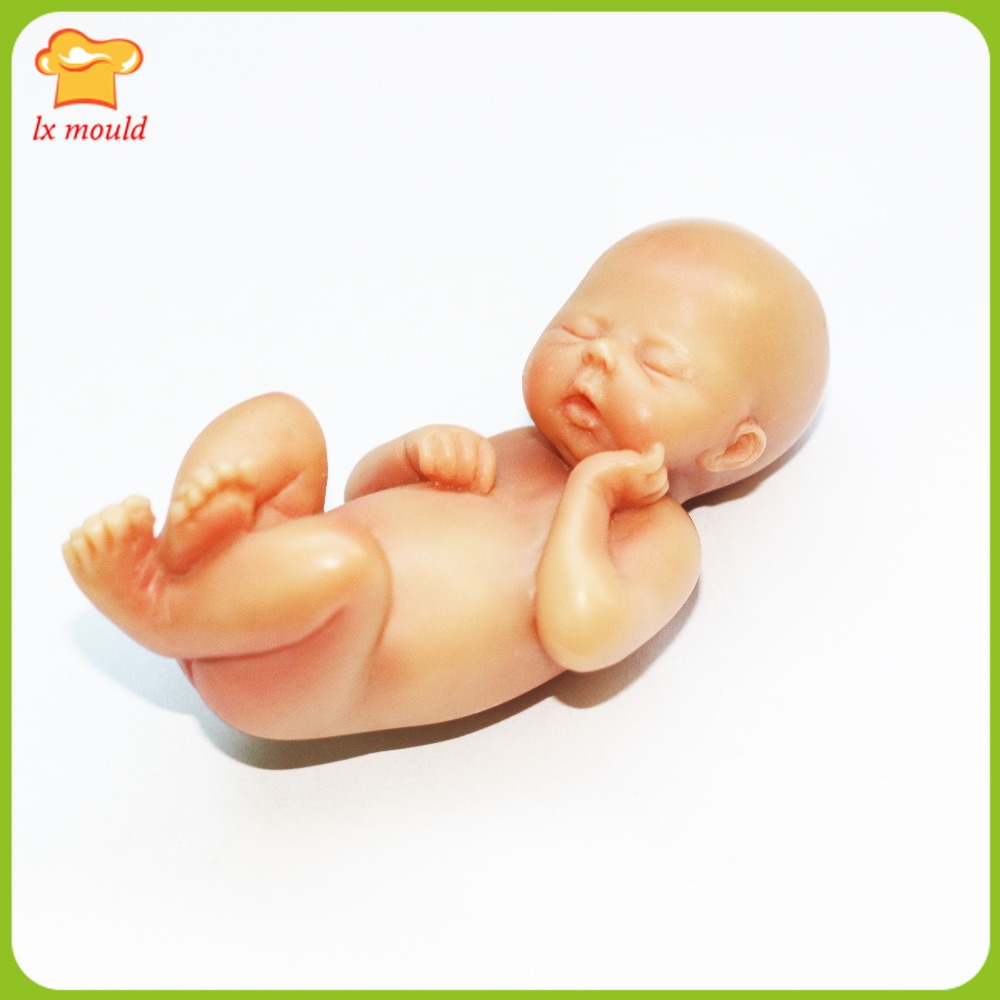 LXYY Moulds Handmade Silicone Mold Cake Decoration Mould 3D BABY MOLD YIN newborn baby chocolate fondant dry Pace DIY Tools