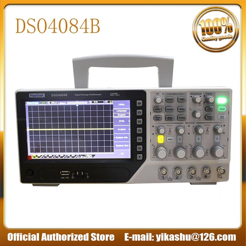 Hantek DSO4084B Digital Oscilloscope DSO4084B 80MHz 1GSa s Real Time 4CH Hantek 4CH Oscilloscope EXT DVM