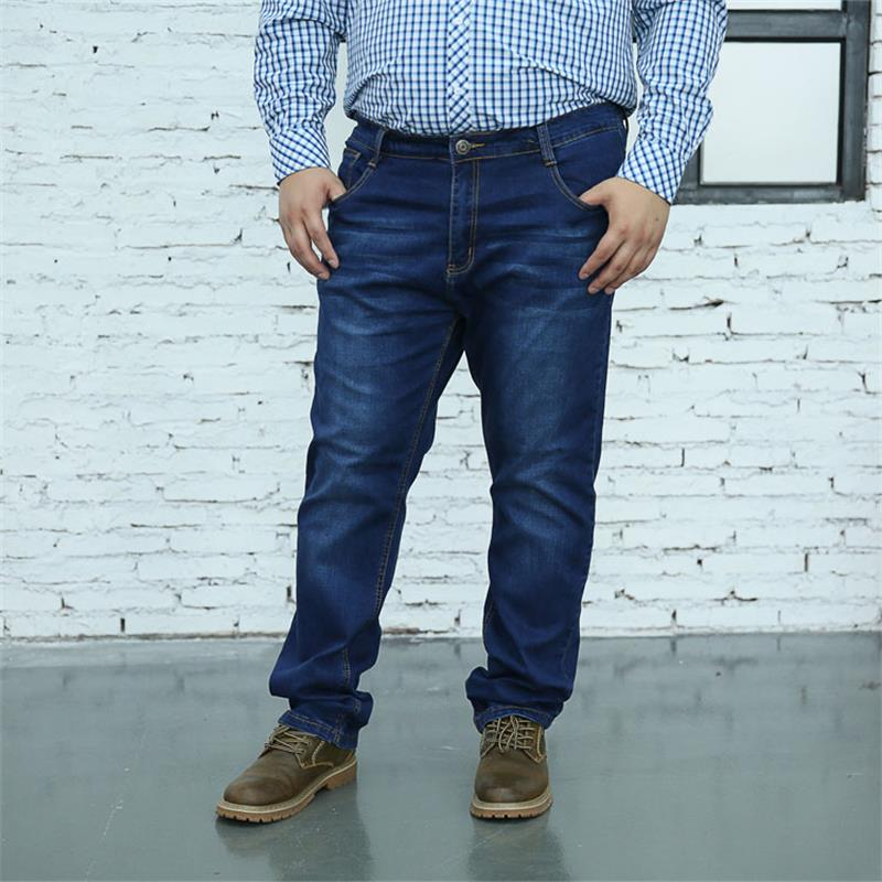 Plus size 10XL 8XL 6XL 5XL Spring Summer Jeans Men Fashion Slim Fit Enzyme Wash Denim Trousers Plus Size Brand Clothing BIG SIZE hee grand 2017 spring summer men jeans full length business style slim fitted straight denim trousers plus size 29 40 mkn960