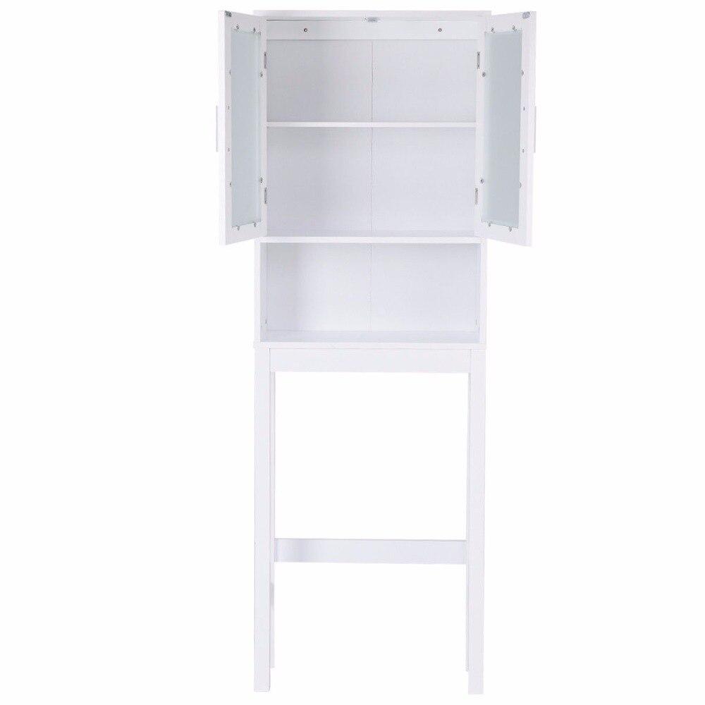 Liano Cabinet 2 Door Double Cupboard Storage Space Mount Organiser White