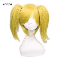 Ccutoo Vocaloid Kagamine רין/לן אחות Hard-R.K צהוב זהב פאה סינתטית לשיער עם שבב קוק Cosplay תלבושות פאה
