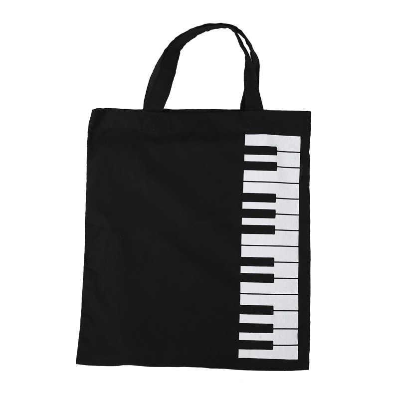 1bb06b57dff4 Detail Feedback Questions about Stylish Women Piano Keys cloth bag ...