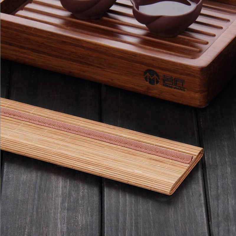 Кунг-фу Чайные Аксессуары бамбуковый коврик обеденный стол коврик теплоизоляция Нескользящие салфетки Салфетки сервировочные Coaster Кухня Аксессуары