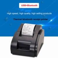 Schwarz und weiß WholesalHigh qualität 58mm thermische drucker erhalt maschine druck geschwindigkeit 90 mm/s USB/Bluetooth interface