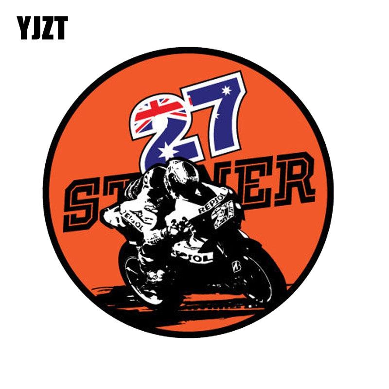 YJZT 14 см * 14 см интересная круглая наклейка для гоночного автомобиля, ПВХ мотоциклетная наклейка 11-00356