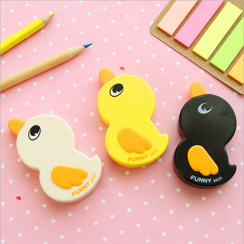 1X 6m Cute Little Duck Correction Tape Material Escolar Kawaii Stationery Korean Novelty School Office Supplies Child Gift