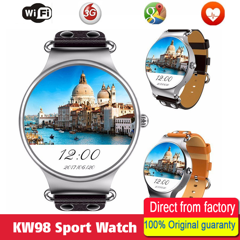 Hold Mi KW98 Smart Watch Android 5.1 3G network WIFI GPS Watch MTK6580 Smart Sport watch for iOS Android Phone PK KW88 hold mi q90 gps phone positioning fashion children watch 1 22 inch color touch screen wifi sos smart watch baby q80 q50 q60