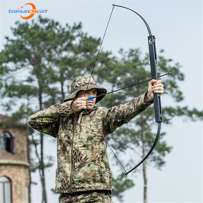 Toparchery Folding Bow 40lbs-60lbs Bow Archery Hunting Recurve Bow Accessories Outdoor Practice Shooting Estilingue