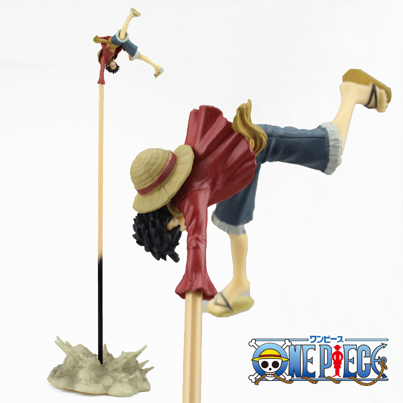 Free Shipping 14 One Piece Anime Monkey D Luffy Armed Color Bully Rubber Gun Boxed 35cm PVC Action Figure Model Doll Toys Gift anime one piece dracula mihawk model garage kit pvc action figure classic collection toy doll