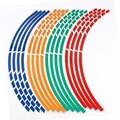 16 Tiras de Estilo Pegatinas de Coche Reflexivo 7 Colores Pegatina Llanta 17 o 18 pulgadas de Cinta Accesorios de Motos