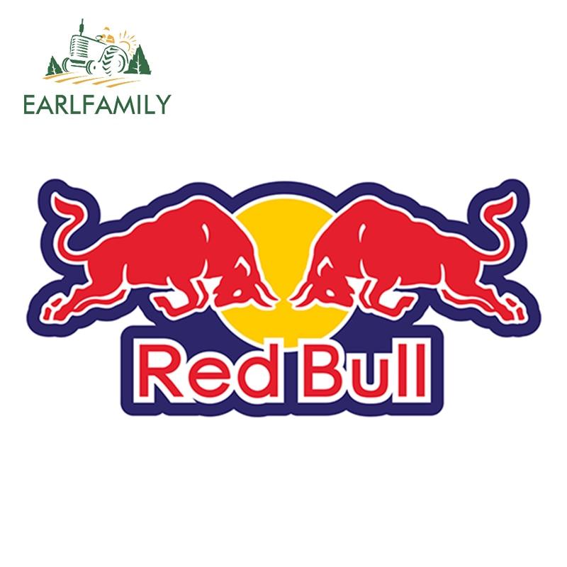 EARLFAMILY 13cm X 6cm For Red Bull Vinyl Sticker Car Truck Window Decal Bumper Laptop Yeti Racing Wall Bumper Helmet Car Sticker