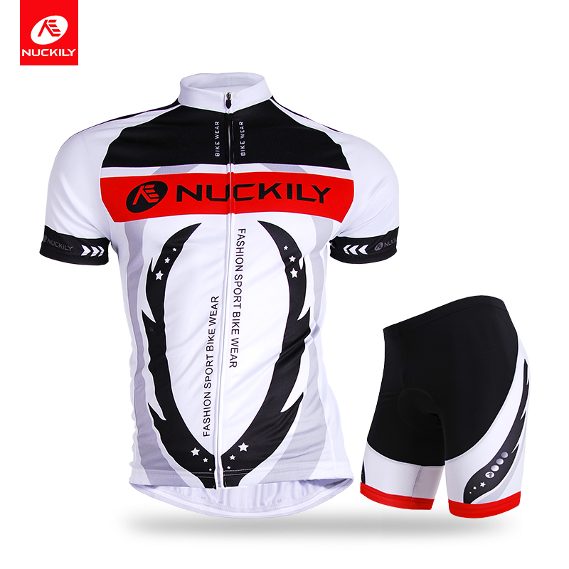 ФОТО Nuckily summer short sleeve cycling  jersey with short mountain bikes suit for men AJ208BK267