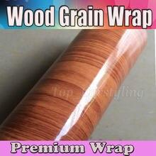 Trama legno envoltura de grano de madera-piel-Adesivo Vinile Legno cubierta de vehículo/lámina de liberación de aire 1,52x20 m/Roll