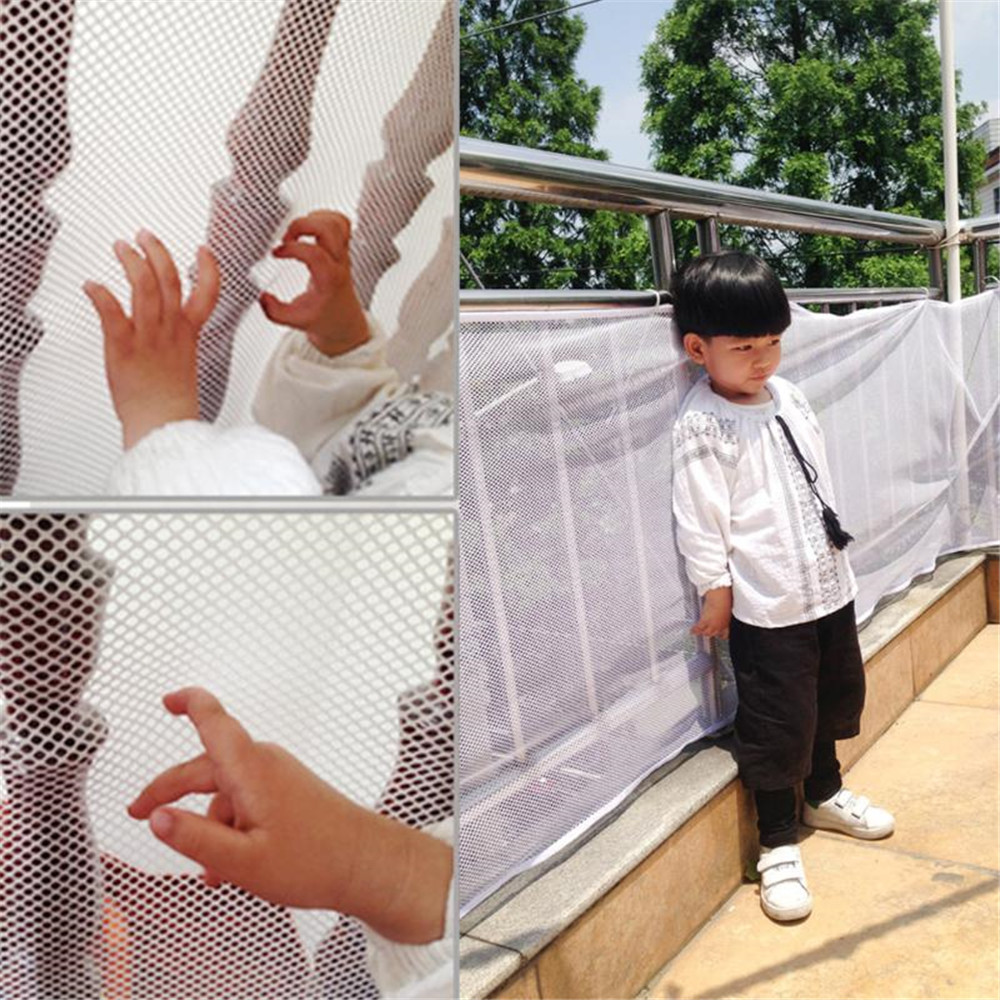 Gates & Doorways Plastic Baby Fence Stairs Playpen Safety Balcony Gate Net Kid Safe Thickening Protector Home Toddler Fencing