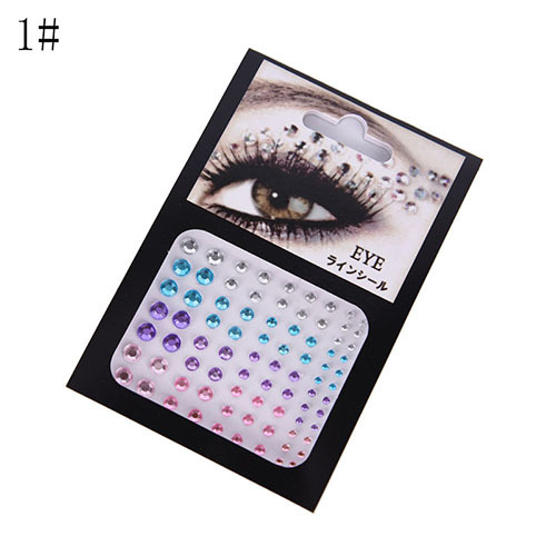Tattoo Diamond Makeup Eyeliner Eyeshadow Face Sticker Jewel Eyes Makeup Crystal Eyes Sticker 4