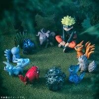 mylb 10pcs/set 4 7cm Nini Naruto Tailed Beast PVC Doll Toys Anime Collection Naruto Model Toy Dolls Nine Lamas