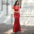 Ruiyige 2017 Elegant Summer 5 Colors Vintage Tunic Sequined Women Flare Long Maxi Sexy Formal Party Vestidos Bridesmaid