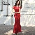 Ruiyige 2017 elegante vestido de verão 5 cores do vintage túnica de paetês mulheres flare maxi longo sexy formal do partido vestidos de dama de honra