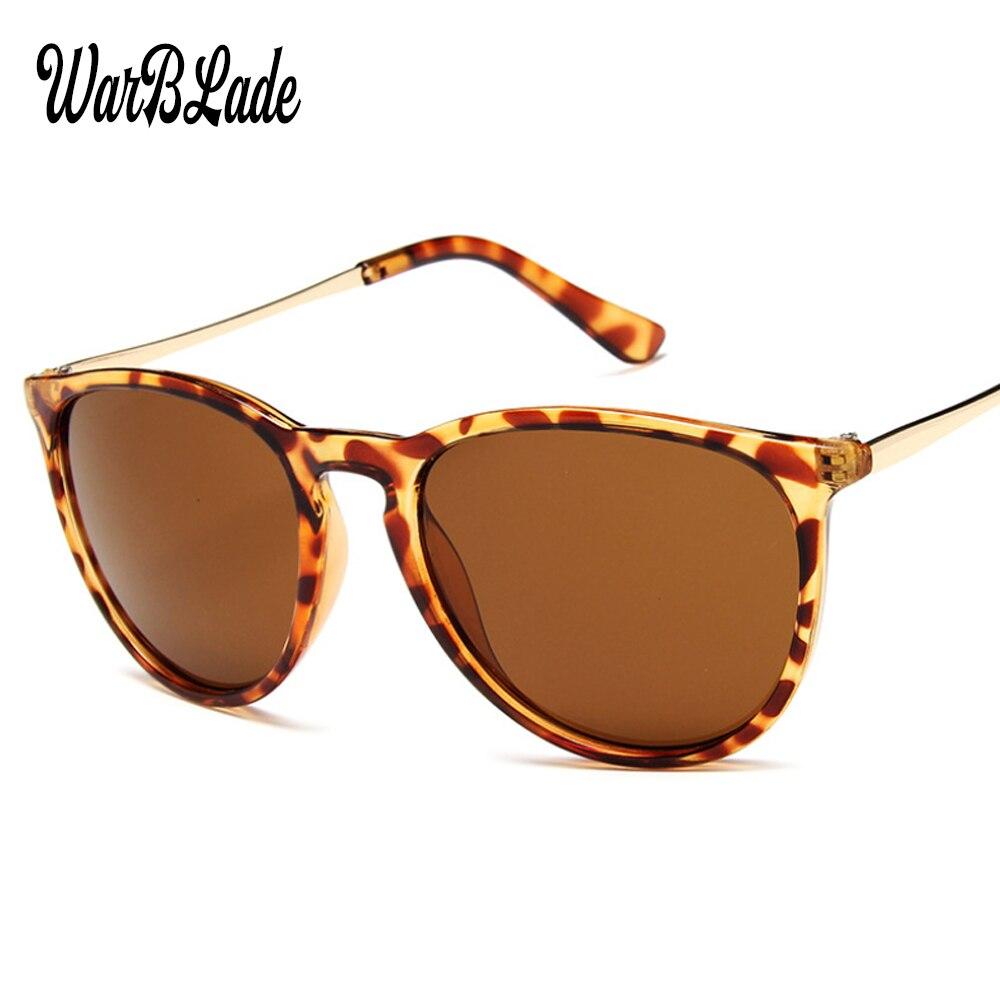 Di tea Sol Marca Feminino Disegno Black Oculos De Bright matte Sole Da Modo Stile Warblade Rotondo Occhiali Black Delle Donne silver 2019 Classico 4171 Vintage leopard q1fwwE