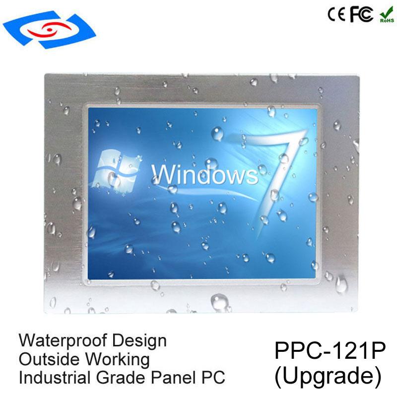 Baixo Custo de 12.1 polegada Atualizar Tudo Em Um RAM 8G Fanless PC Tablet Com 4xlan 2 Aplicação do Ensino básico e secundário PC Industrial