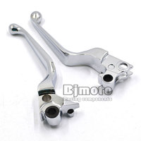 Motorbike Chrome Skull Brake Clutch Levers For Harley 1996 2003 XL 1996 2007 Dyna And Touring