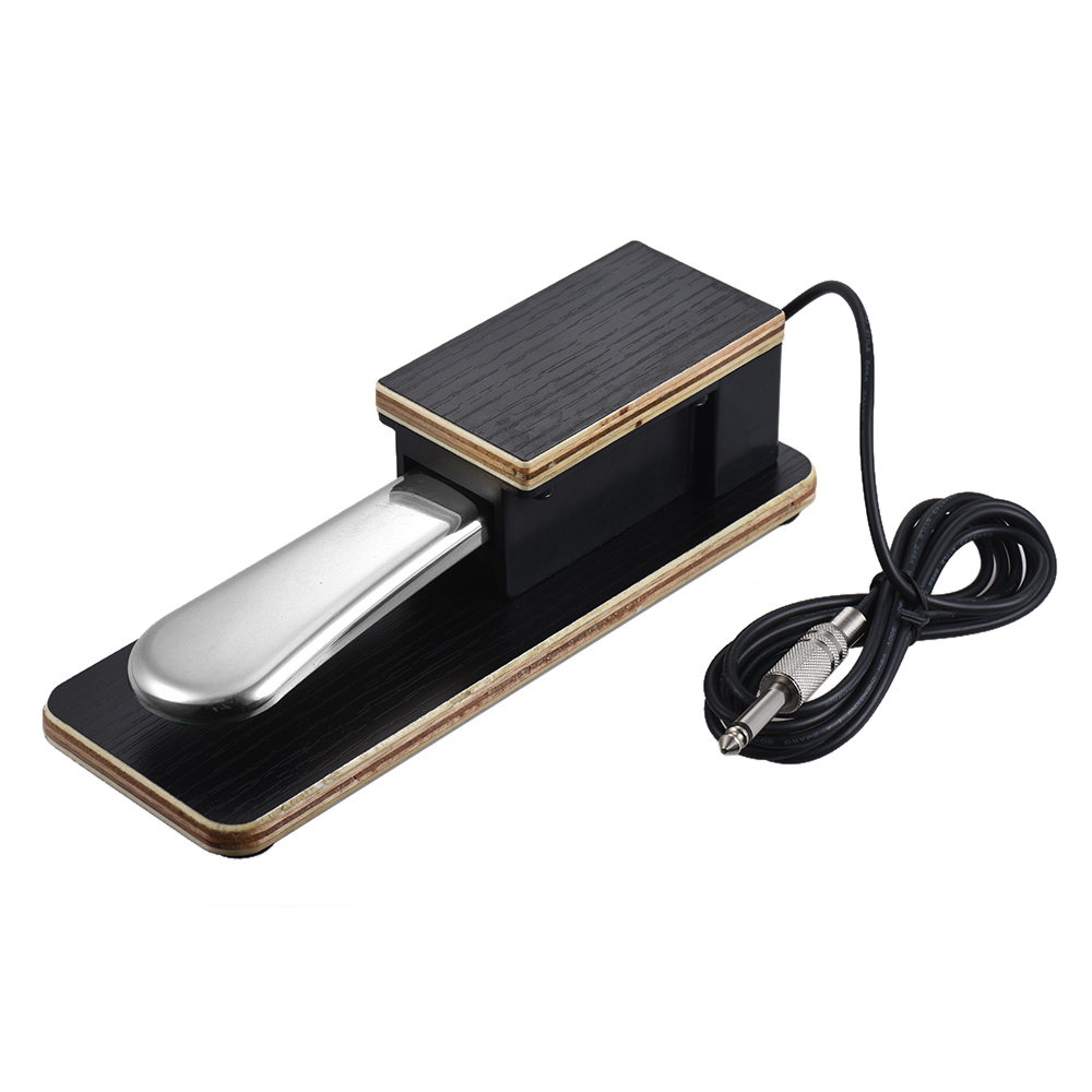 Universal Piano Sustain Pedal Keyboard Foot Damper Pedal 6.35mm Plug For Electronic Keyboards
