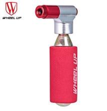 WHEEL UP Mini Portable Pump Dual Inflator Pump Bicycle Pump CO2 Cartridge Emergency Cycling Pump Head Bike Ball цена 2017