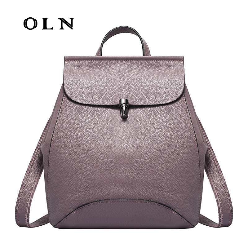 OLN High Quality Genuine Leather Women Backpack Vintage Backpack for Girls Casual Bags Female Shoulder Bags School Backpack все цены