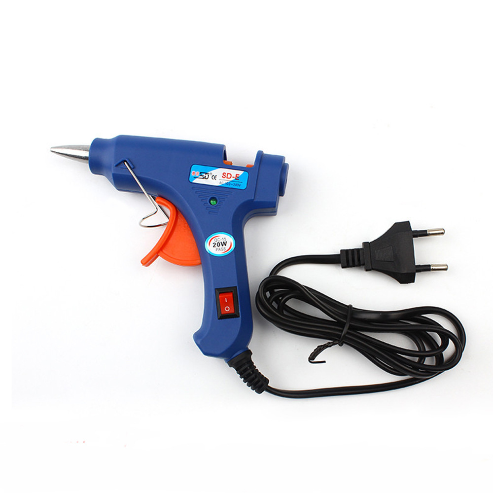 Бесплатная доставка термоклей пистолет 20 Вт 7 мм Клей-карандаш промышленных мини Пистолеты термо-электрический тепла Температура инструмент