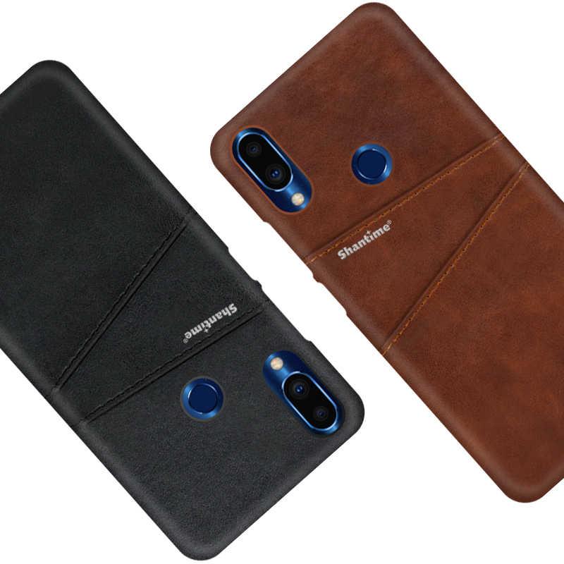 Lüks Vintage deri arka kapak için Meizu not 9 telefon kılıfı için Meizu not 9 kart yuvası PU deri kılıf
