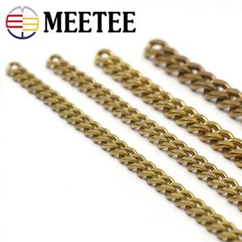 17686baba8cd Meetee 1 metro de latón sólido cartera Cadena