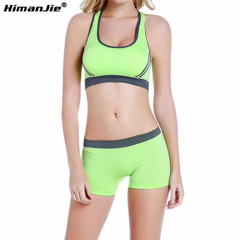 9002a0f2ee Women Yoga Sets Tank Top   Shorts Breathable Seamless Sports Bras and  Stretch Shorts Running Fitness Gym Workout Sportswear