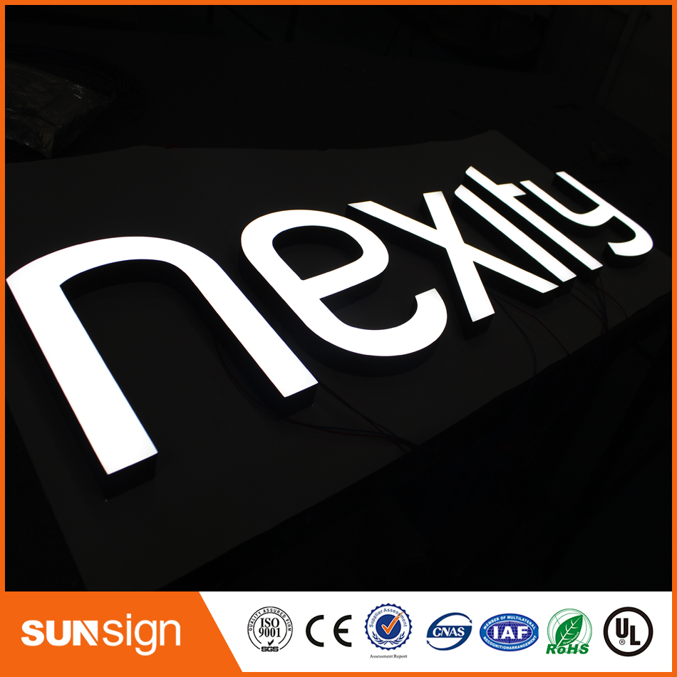 Outdoor Indoor Frontlit And Backlit Customized Led Sign
